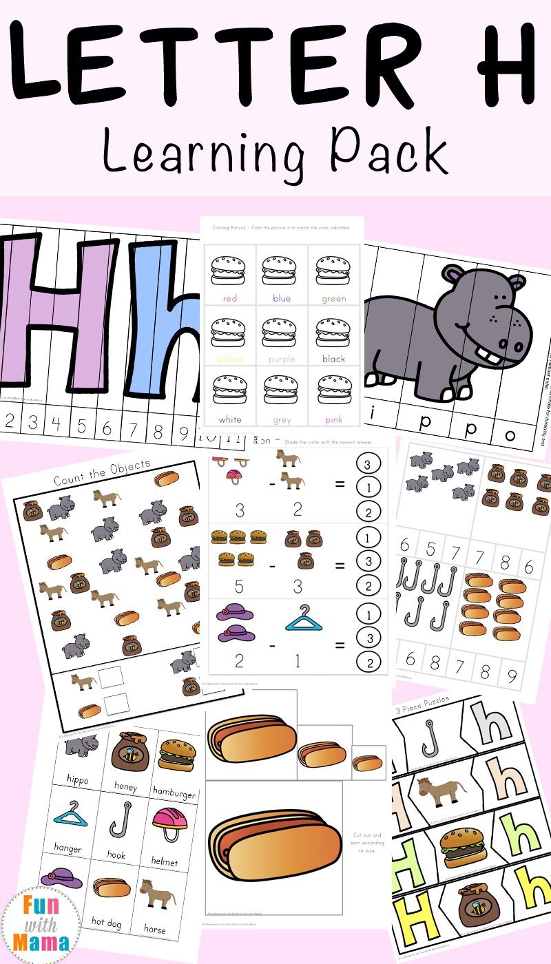 Letter H Worksheets + Activities - Fun With Mama