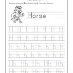 Letter H Worksheets For Kindergarten – Trace Dotted Letters