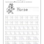 Letter H Worksheets For Kindergarten – Trace Dotted Letters
