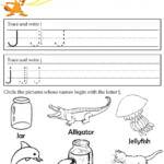 Letter J Tracing Worksheets Preschool | Alphabet Preschool