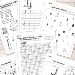 Letter J Worksheets - Alphabet Series - Easy Peasy Learners