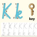 Letter K Tracing Alphabet Worksheets - Download Free Vectors