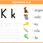 Letter K Tracing Worksheet   Free Printable Puzzle Games