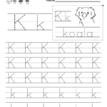 Letter K Writing Practice Worksheet - Free Kindergarten