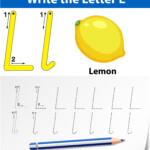 Letter L Tracing Alphabet Worksheets - Download Free Vectors