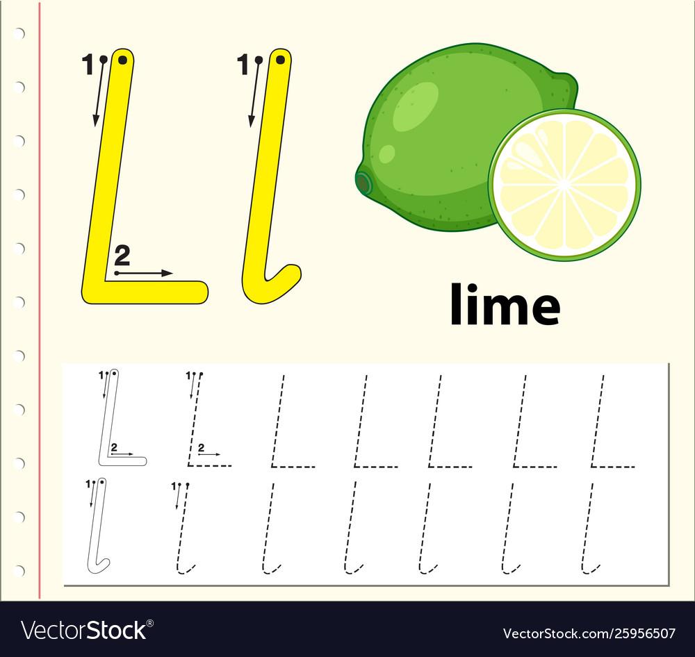 Letter L Tracing Alphabet Worksheets