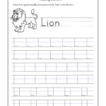 Letter L Worksheets For Kindergarten – Trace Dotted Letters