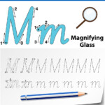 Letter M Tracing Alphabet Worksheets