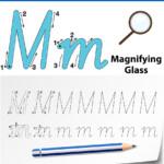 Letter M Tracing Alphabet Worksheets