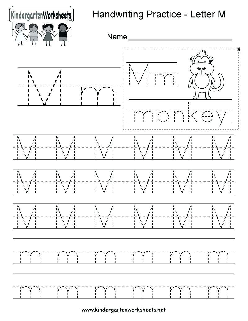 Letter M Tracing Worksheet Printable Letter M Tracing