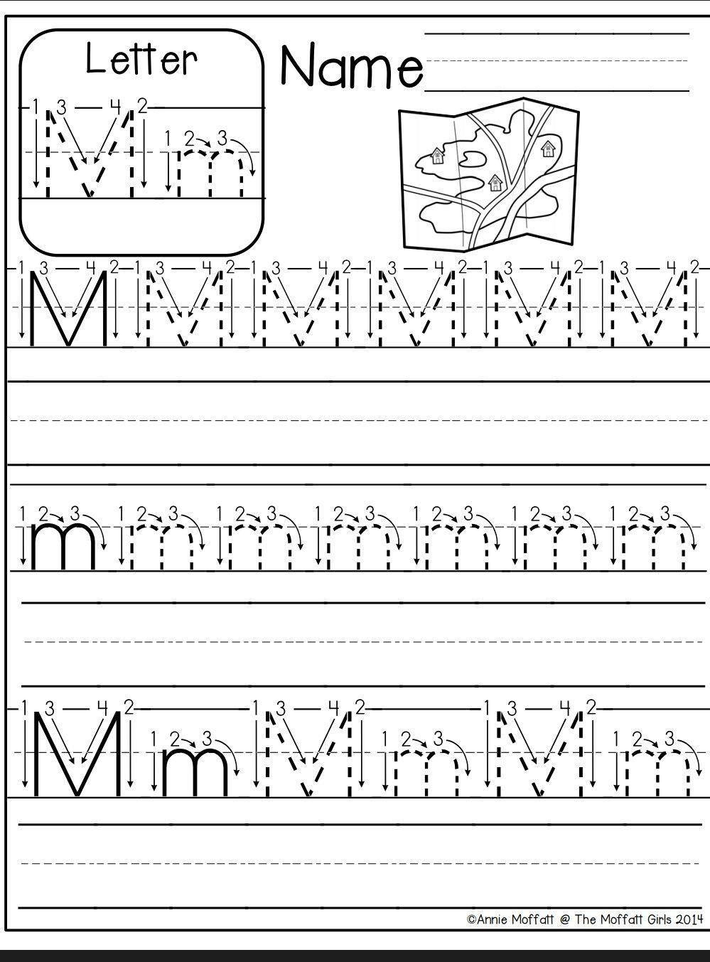 Letter M Worksheet | Kindergarten Abc Worksheets, Alphabet