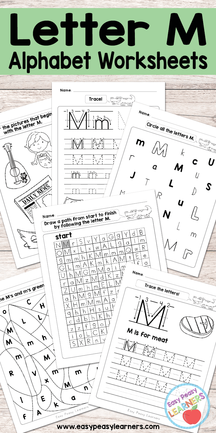Letter M Worksheets - Alphabet Series - Easy Peasy Learners
