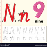 Letter N Tracing Alphabet Worksheets