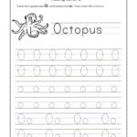 Letter O Worksheets For Kindergarten – Trace Dotted Letters