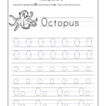 Letter O Worksheets For Kindergarten – Trace Dotted Letters