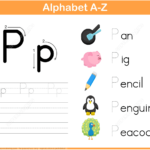 Letter P Tracing Worksheet | Free Printable Puzzle Games