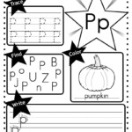 Letter P Worksheet: Tracing, Coloring, Writing & More | 교육