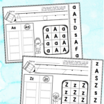Letter Practice Sheets A To Z - Tracing, Sorting