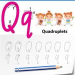 Letter Q Tracing Alphabet Worksheets
