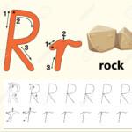Letter R Tracing Alphabet Worksheets Illustration