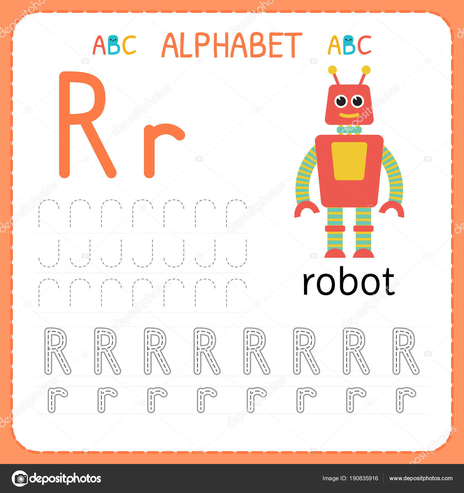 Letter R Tracing Worksheet | Alphabet Tracing Worksheet For