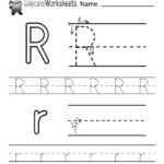 Letter R Tracing Worksheets For Preschool In 2020 | Alphabet