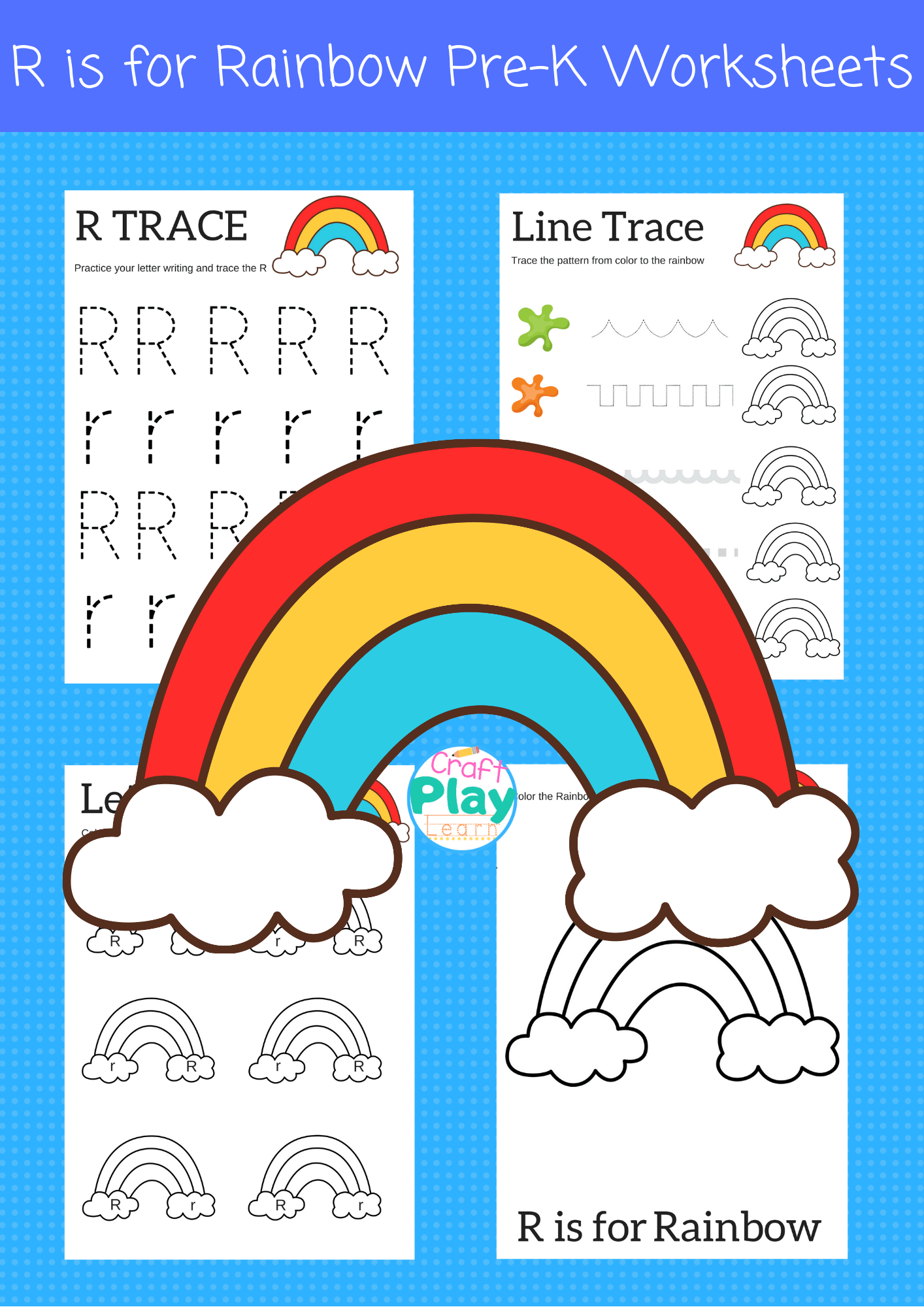 Letter R Worksheets For Preschool Kids - Craft Play Learn