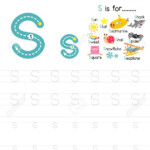 Letter S Uppercase And Lowercase Cute Children Colorful Abc Alphabet..