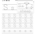 Letter S Writing Practice Worksheet - Free Kindergarten