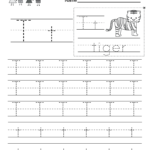 Letter T Handwriting Practice Worksheet. This Would Be Great