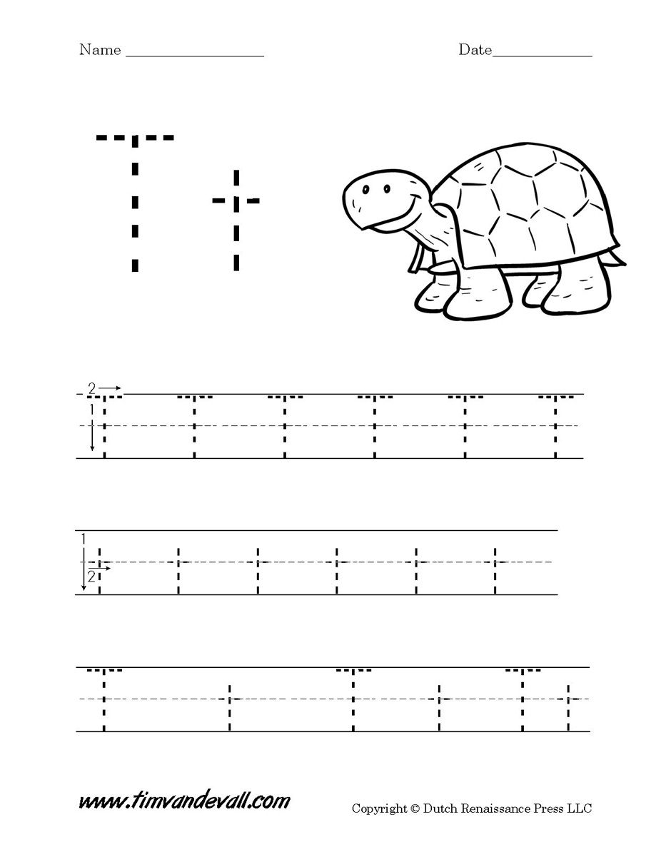 Letter T Worksheet Tim S Printables | Letter T Worksheets