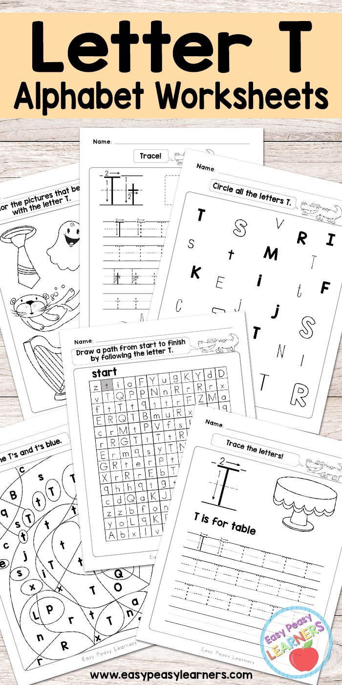 Letter T Worksheets - Alphabet Series - Easy Peasy Learners