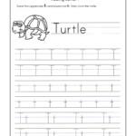 Letter T Worksheets For Kindergarten – Trace Dotted Letters