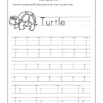 Letter T Worksheets For Kindergarten – Trace Dotted Letters