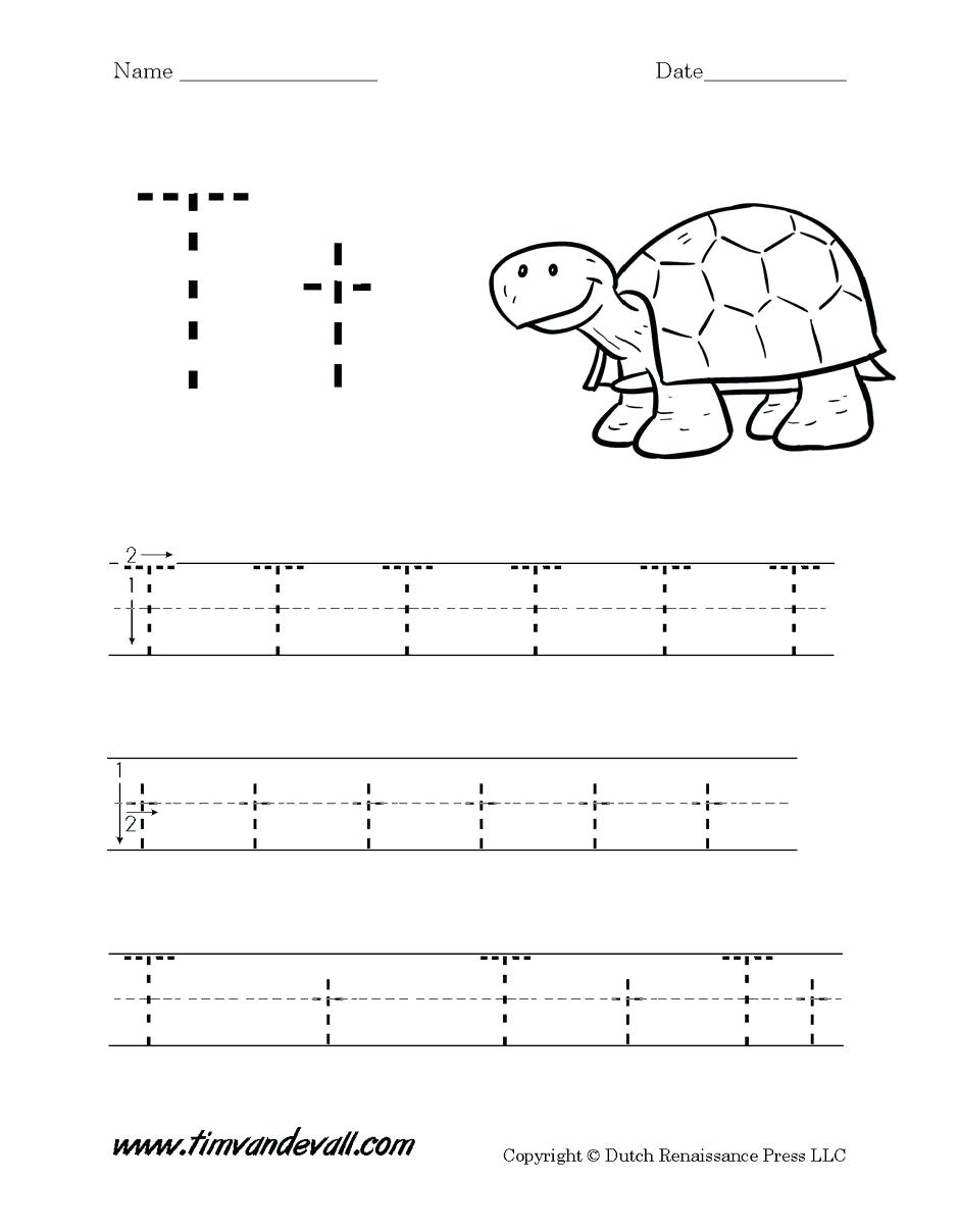 Letter T Worksheets For Preschoolers Letter T Worksheets