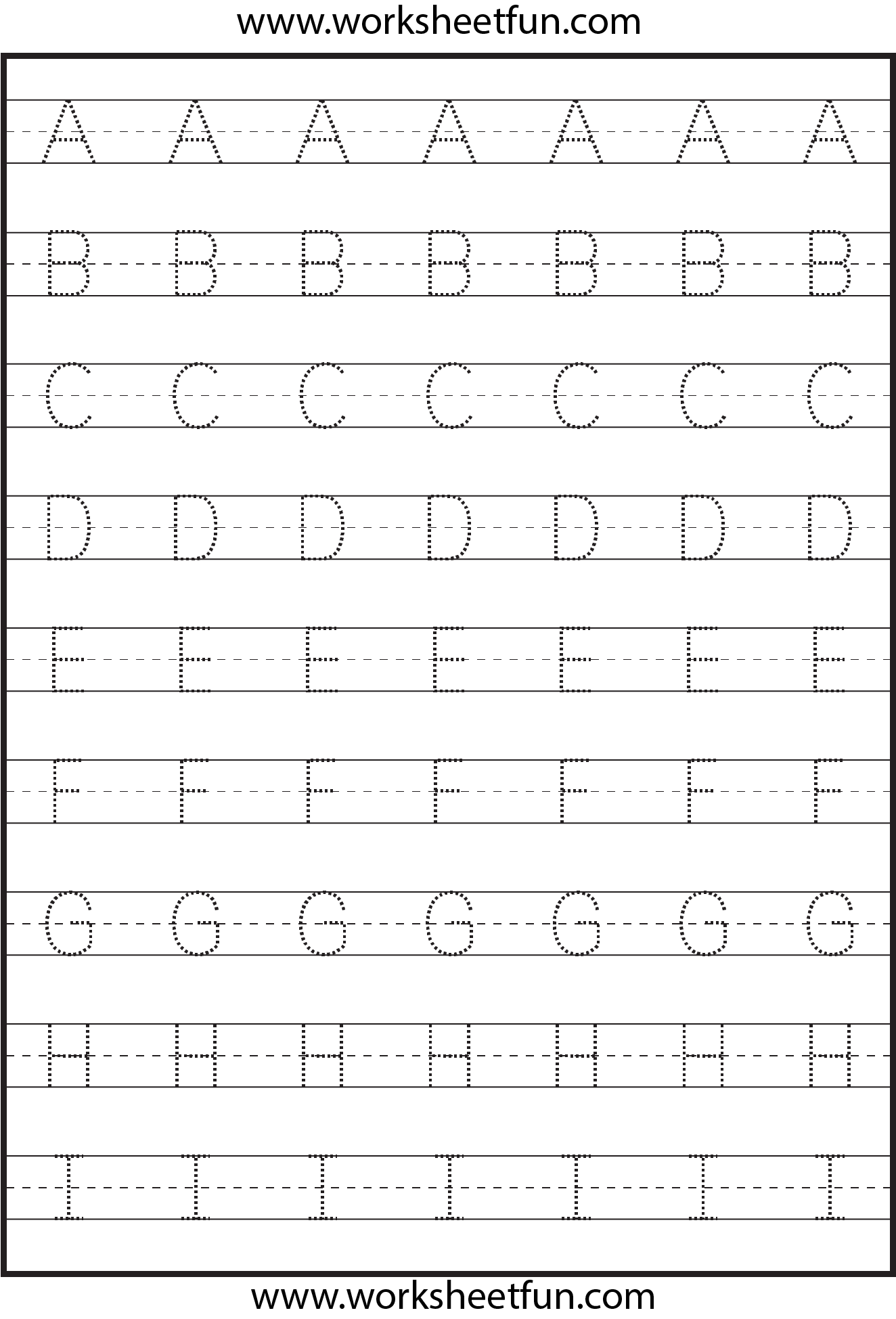 Letter Tracing - 3 Worksheets | Letter Tracing Worksheets