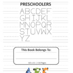 Letter Tracing Book For Preschoolers: Alphabet Writing And Handwriting  Practice For Kids Ages 3-5 Dotted Lined 8.5X11, 110 Pages (Paperback) -