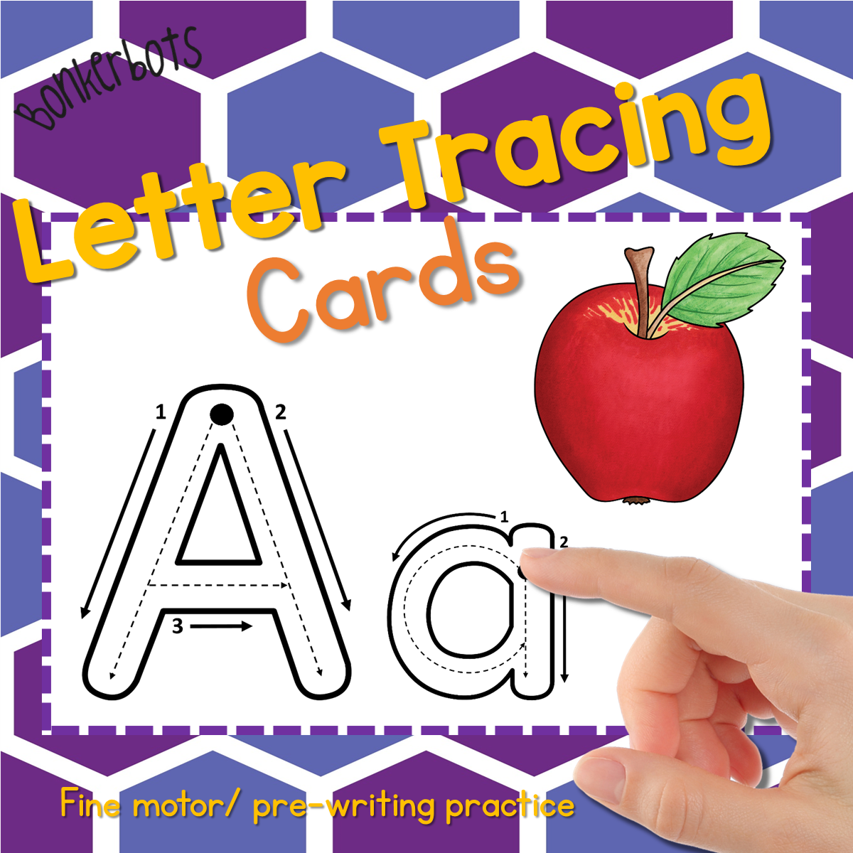 Letter Tracing Cards - Bonkerbots