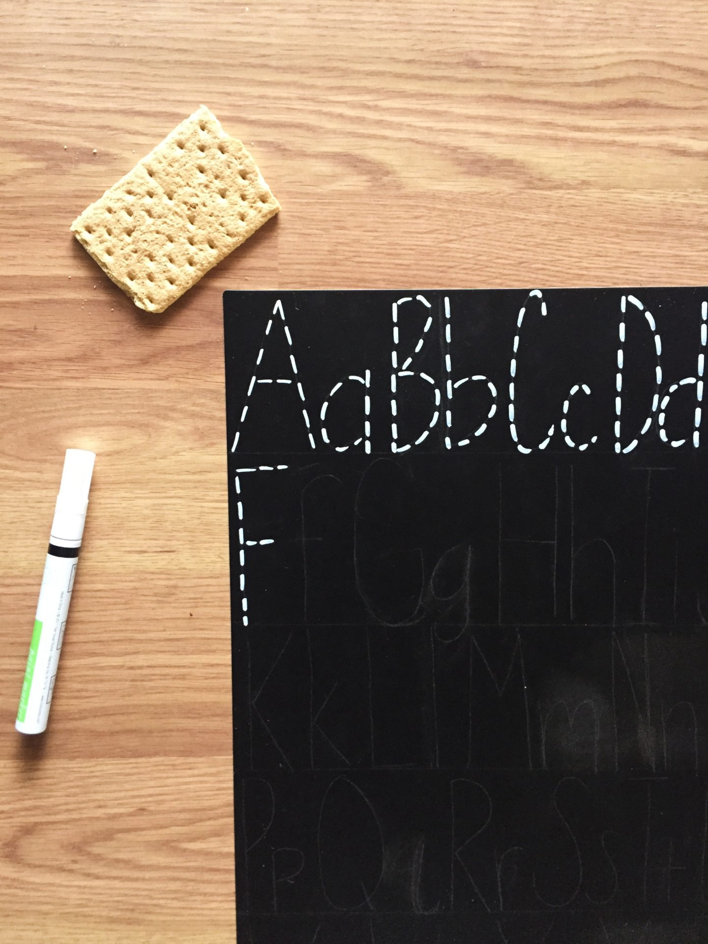 Letter Tracing Chalkboard Diy - Angela Cheatwood