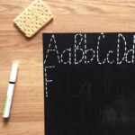 Letter Tracing Chalkboard Diy | Homeschool English | Tracing