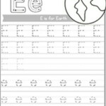 Letter Tracing E Is For Earth | Handwriting Worksheets