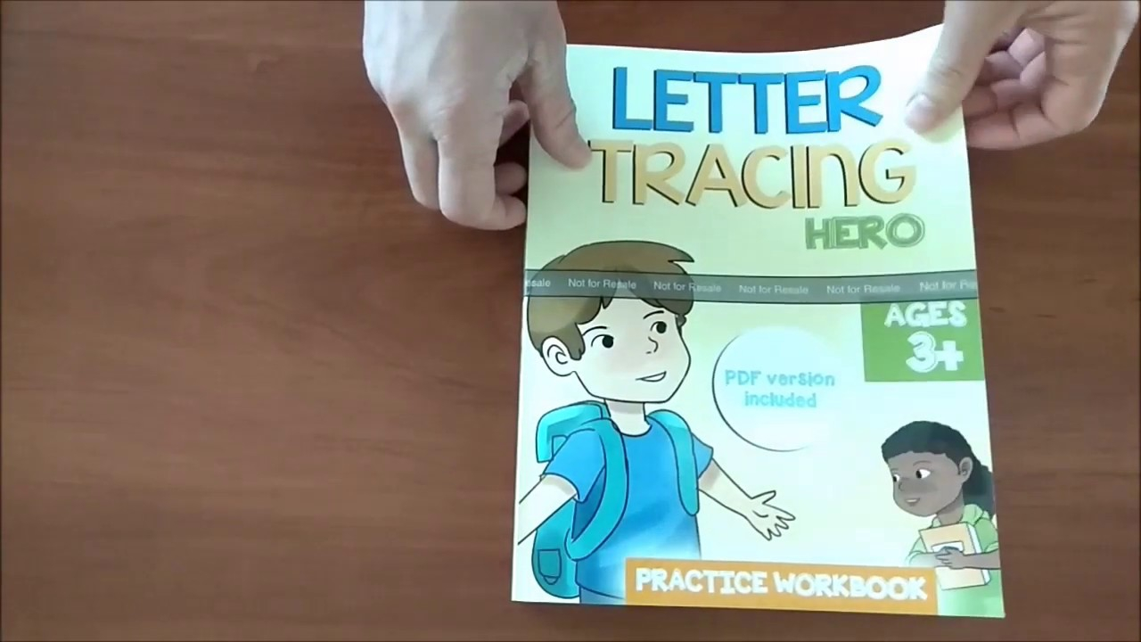 Letter Tracing Hero Book For Preschoolers & Kindergarten