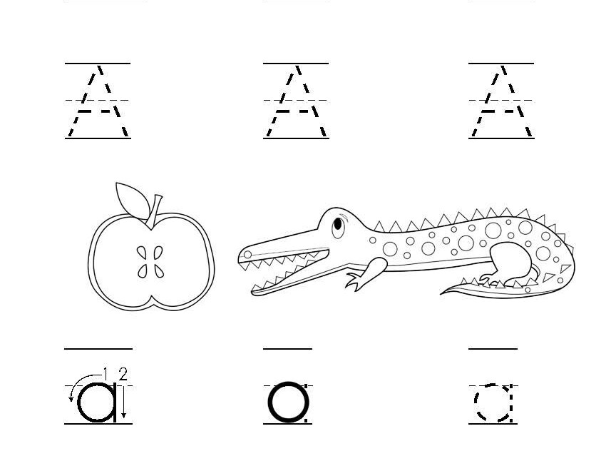 Letter Tracing Practice Sheet For The Letter A. #printables