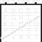 Letter Tracing Worksheet – Capital Letters / Free Printable