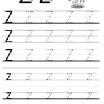 Letter Tracing Worksheets (Letters U - Z)