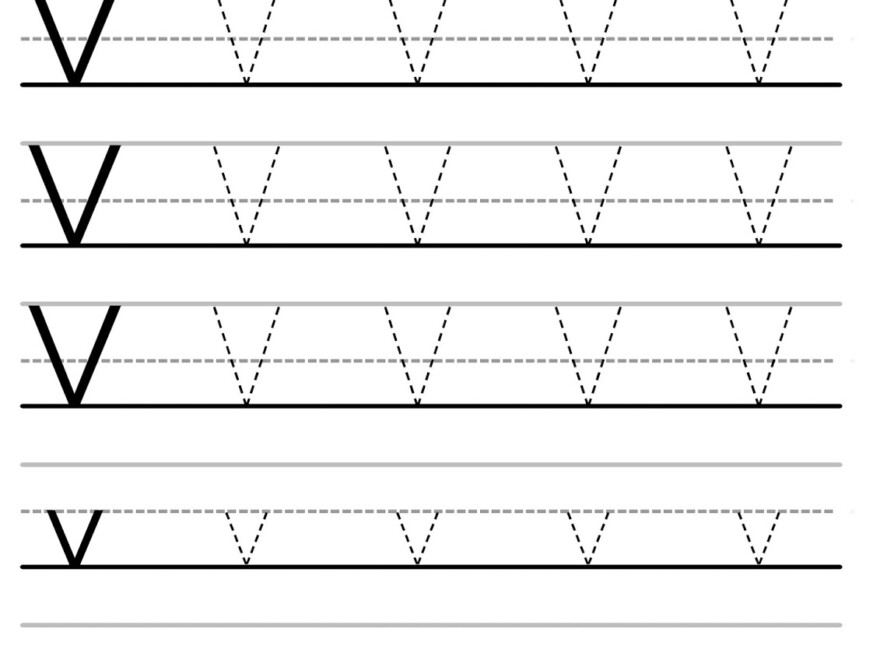 Letter Tracing Worksheets (Letters U - Z)