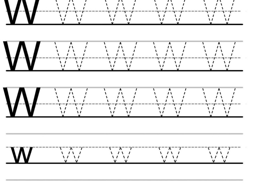 Letter Tracing Worksheets (Letters U - Z) | Letter Tracing