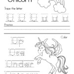Letter U Alphabet Writing Practice - That Bald Chick®