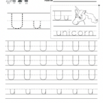 Letter U Handwriting Worksheet For Kindergarteners. This