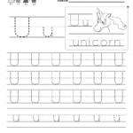 Letter U Handwriting Worksheet For Kindergarteners. This